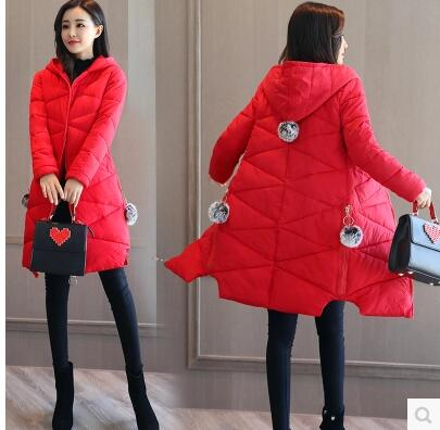 Versión Gris Abrigo Chaquetas Cálido Verde Rojo Coral Coreana Parkas rOqSrx