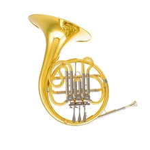 Bb Junior French Horn musical instruments 3 Valves waldhorn Yellow Brass trompa francesa with Case and mouthpiece