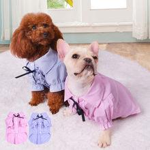 ec7cac7c4 Gato Camisa Do Cão Roupas de Verão Pet Roupa Do Cão Poodle Bichon Schnauzer  Pug Bulldog