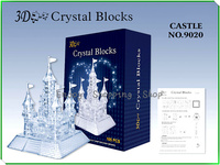 3d Crystal Puzzle ABS Castle Jigsaw 2color Model Building Educational Toys For Children Kids Games Brinquedos