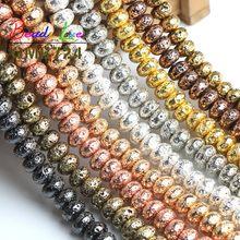Perles rondes en pierre volcanique pour la fabrication de bijoux, 6, 8, 10mm, 15 pouces, vente en gros