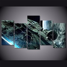 5 Pieces/set HD Printed millennium falcon star wars Painting Canvas Print room decor print poster picture canvas painting