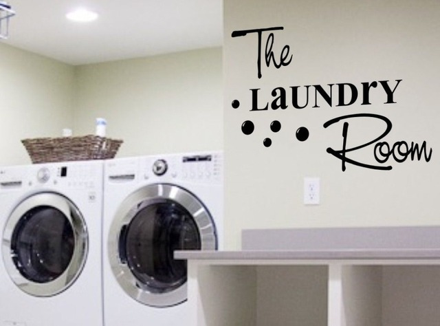 Hot Fashion Laundry Room Vinyl Wall Decal Creative DIY ...