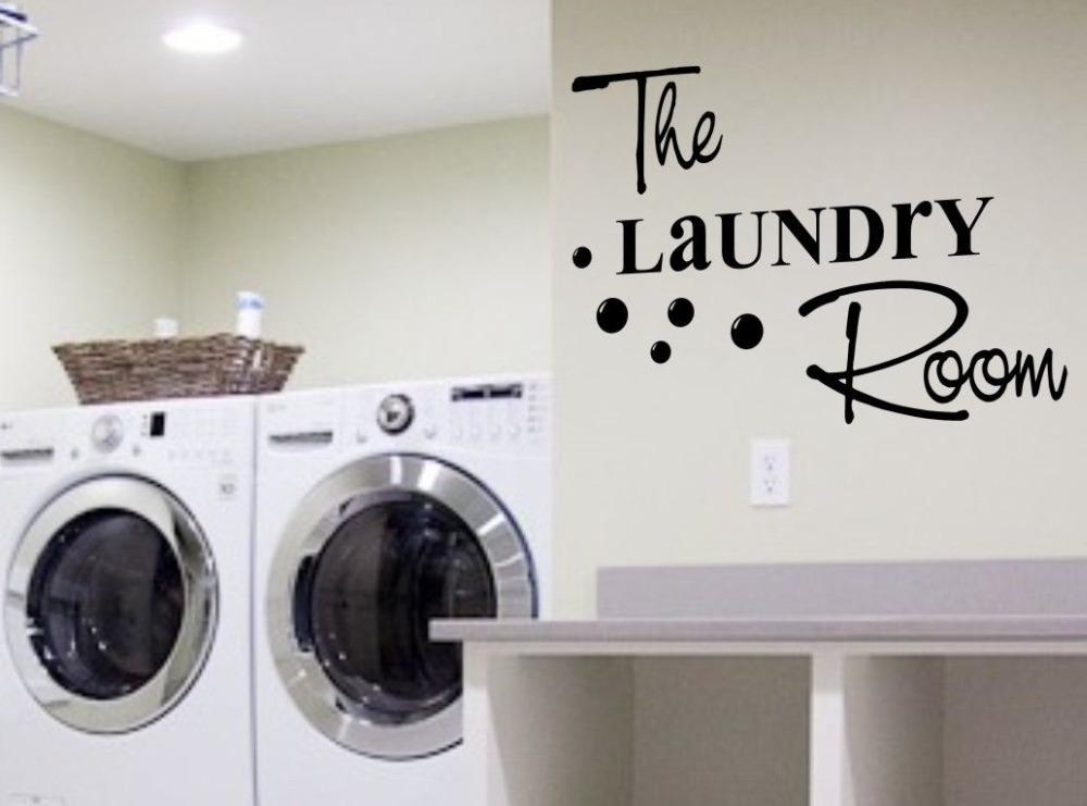 hot fashion laundry room vinyl wall decal creative diy quote words mural art wall sticker laundry