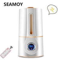 Seamoy 3L Remote Control Aroma Diffuser LCD Screen Smart Ultrasonic Air Humidifier Mist Maker Fogger 25W Timing Air Purifier