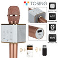 Free shipping!Tosing Q7 Wireless Handheld Microphone KTV USB Playback For Smartphone Rose Gold