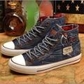 Zapatos de mezclilla zapatos de lona de la vendimia de las mujeres todas correspondan retro otoño primavera vulcanizan los zapatos para las mujeres A661