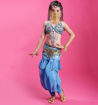 2017 New Arrivals Cheap S/M/L Children Belly Dance Costume Set for Kids on Sale