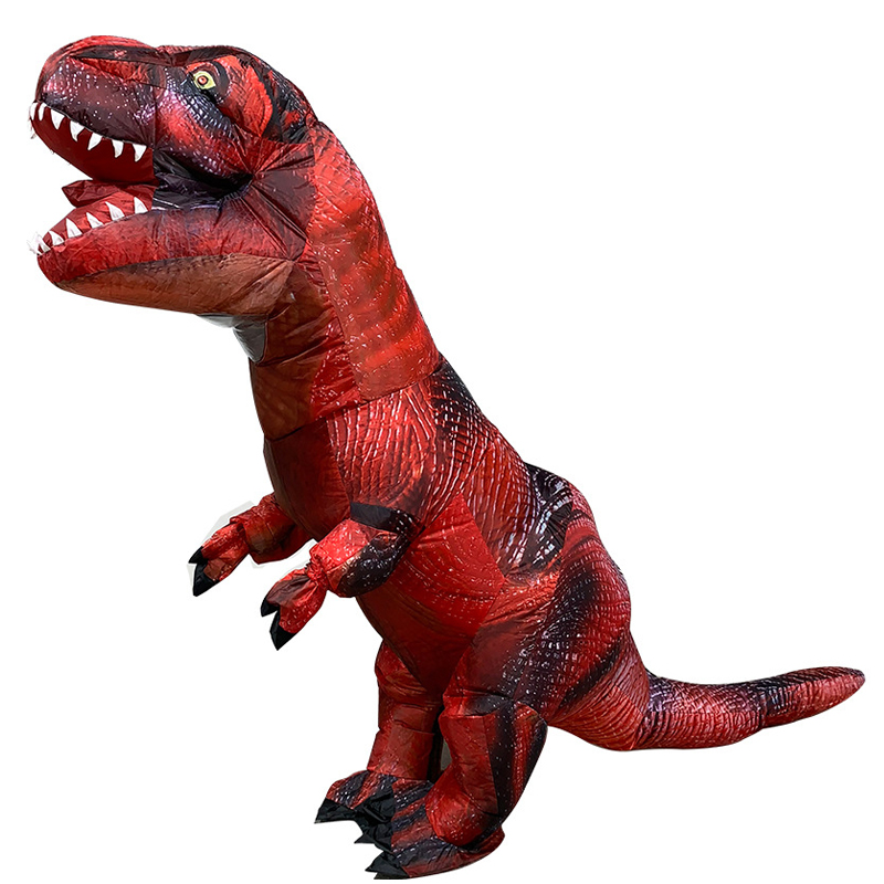 New Style Giant Red t rex Dinosaur Inflatable Costumes Halloween Cosplay Costume trex Party Costume for