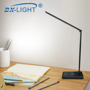 Image 5 - 3 Level Brightness Adjustable USB LED Desk Lamp Multifunction Qi LED Table Lamp 5W Touch Switch USB/Wireless Charger Table Lamp