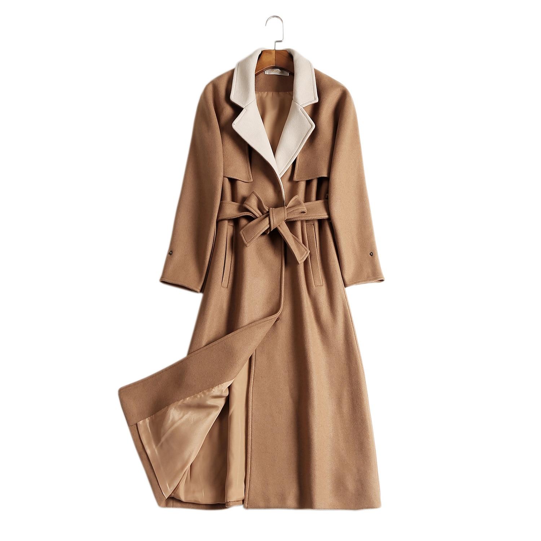Ceinture Chaud Camel Manteaux Pardessus Laine Tendance De Outwear Femmes Épaississent Manteau Femme Avec Oversize Hiver Feminino Pour 2018 Long RgqWnFgU