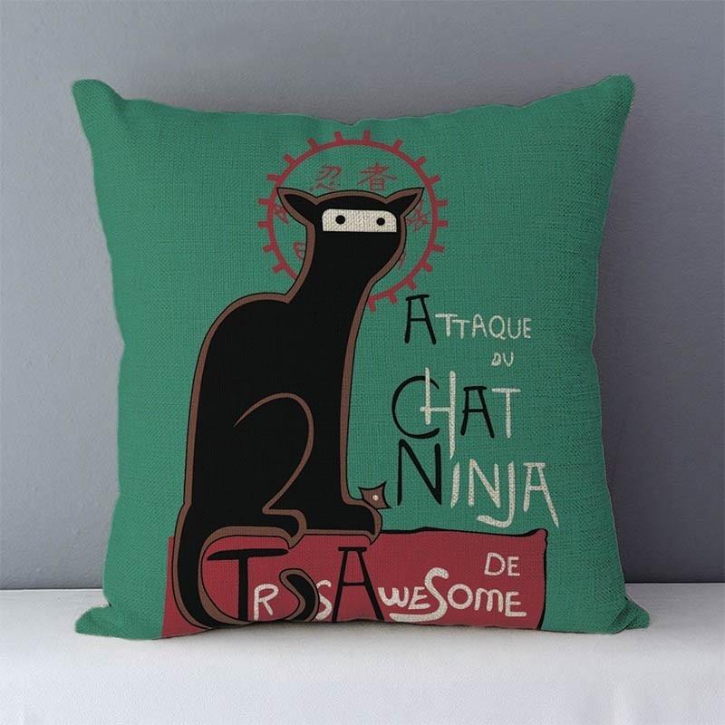 HTB1MFKkXojrK1RkHFNRq6ySvpXa2 Selected Couch cushion Cartoon cat printed quality cotton linen home decorative pillows kids bedroom Decor pillowcase wholesale