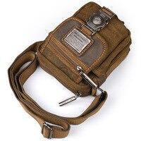 Ruil Retro Canvas Small Bag Men S Fashion Multi Functional Pockets Leisure Travel Phone Bag High