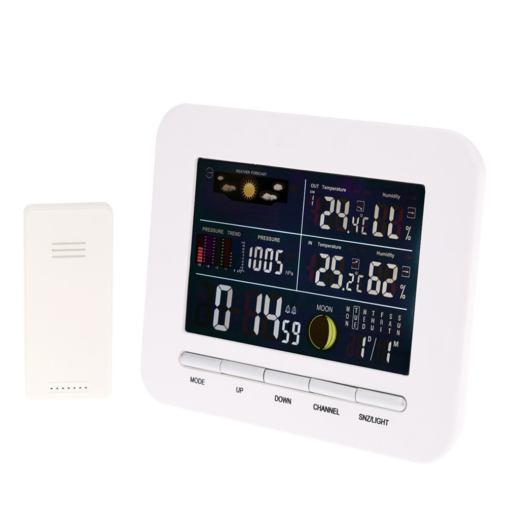 Wireless Barometer Weather Station Thermo-Hygrometer Rain Glass Humidometer Temperature Gauge Clock Indoor Oudoor wireless weather station indoor hygrometer indoor