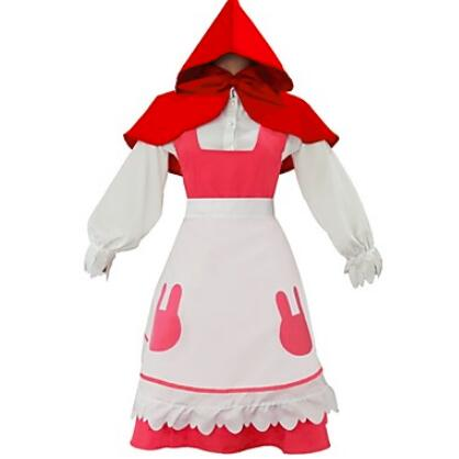Inspired by Karneval Connor Little Red Riding Hood Cosplay Costumes Cosplay Suits Solid Long Sleeves Cravat Shirt Skirt Ap