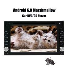 Android 6 Touch Screen Car DVD Stereo 2 Din In Dash Radio Video Multimedia DVD Player Wifi GPS Navigation Free Backup Camera!!