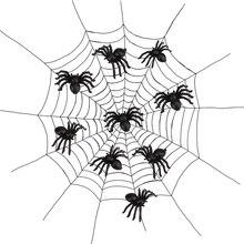 Черный Хэллоуин 20 шт пластиковые игрушки паук трюк вечерние Хэллоуин дом с привидениями реквизит декор для развлечения с друзьями Прямая поставка 20