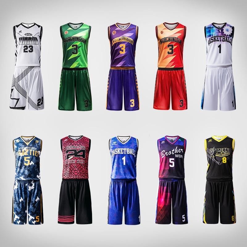 Zhouka Design Basketball Jersey Uniform Blank Custom For Men Boys Team Club Maillot Basketball Homme Us Basketball T Shirts in Basketball Jerseys from Sports Entertainment