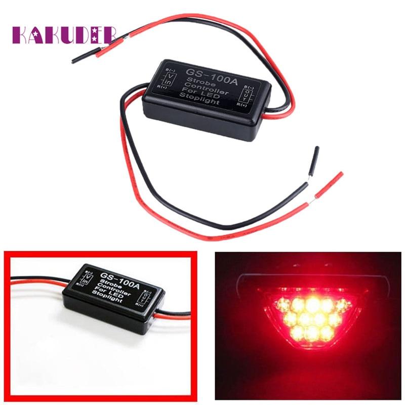 Stop Light Strobe 12V GS-100A LED Brake  Flash Module Controller Box For Car  Ligero Luz quality new fashion 17may25