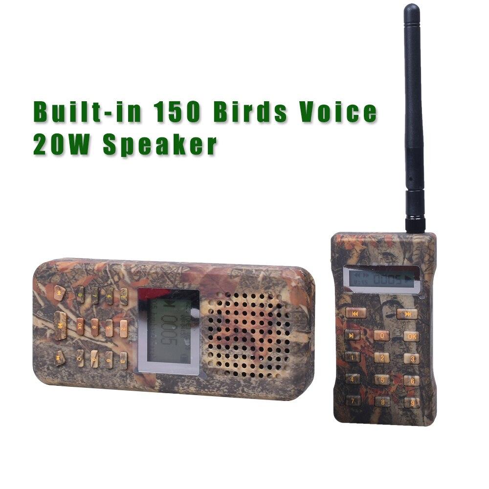 Chasse leurre haut-parleur oiseau appelant oie canard prédateur son lecteur MP3 oiseaux piège avec télécommande Camouflage