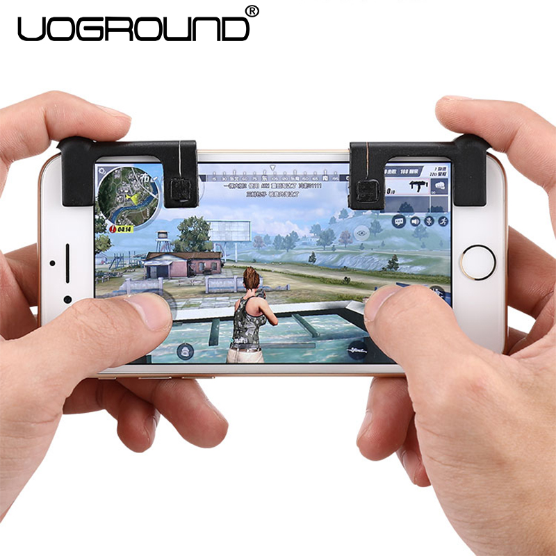 NEW 2Pcs Mobile Phone Shooting Shootout Game Physical Joysticks Assist Tools Adapter Mini Gamepad Button For PUBG FPS STG TPS
