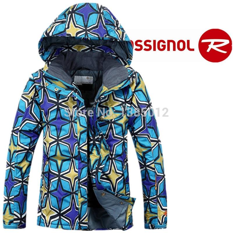 ФОТО Outdoor wind proof veneer ski woman Ms mountain hiking blazer warm coat Free shipping The new 2016 ski suit XSS M LBlue and red