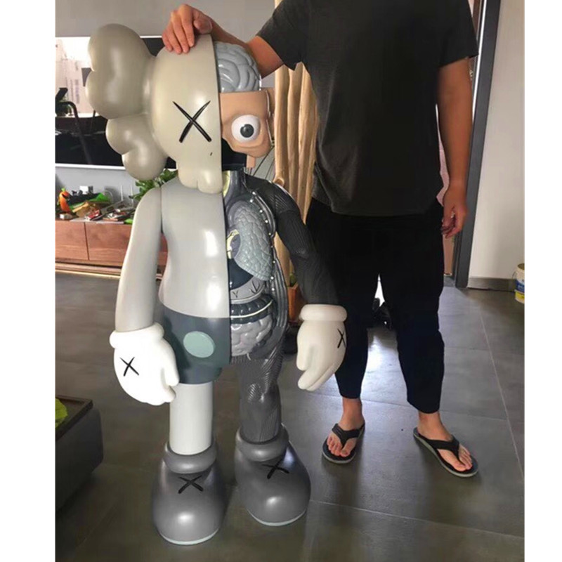 4FT OriginalFake KAWS Dissected Companion Brian Street Art BFF 4FT Action Figure Collectible Model Medicom Toy L1941 цена