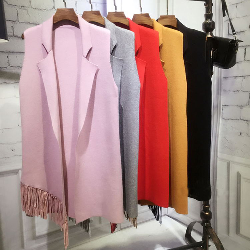 New Autumn Winter sweater Vest font b women b font Casual Loose big yards sleeveless cardigans