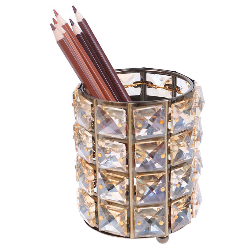 ผู้ถือปากกาโรงเรียน accessoriesMakeup แปรงหลอด Eyebrow ดินสอลูกปัดคริสตัลเครื่องประดับกล่อง