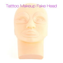 New Tattoo Microblading Practice Fake Skin Head Professional Tattoo Practice Silicone 3D Practice Skin Mannequin Cosmetic 2017