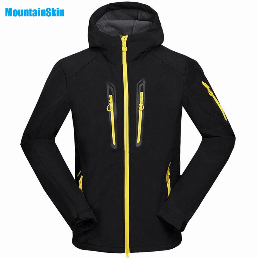 Mountainskin Men Winter Inside Fleece Softshell Hiking Jackets Outdoor Warm Clothing Waterproof Camping Male Skiing Coats MA030 стоимость