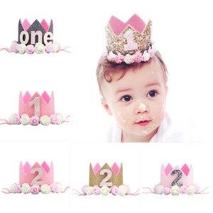 1 год, день рождения, вечеринка, декор для детей, принцесса, корона, 1 день рождения, вечеринка, товары на первый день рождения для мальчиков и ...