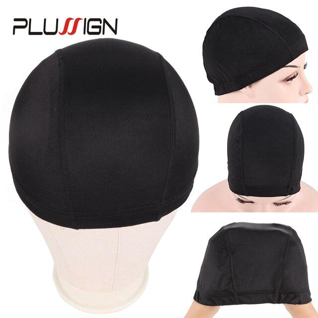 Plussign 12 יח\חבילה סיטונאי סטרץ כיפת עבור פאה ביצוע אלסטי רשת רשתות שיער אריגת כובע ממוצע גודל Strech סנוד ניילון
