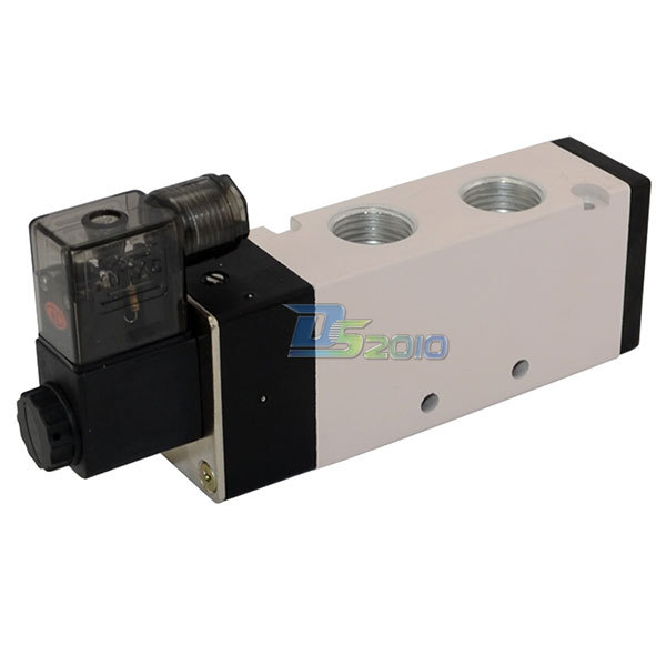 Good Quality 1/2 DC 12V 5 way 2 position Pneumatic Electric Solenoid Valve NPT Air Aluminum