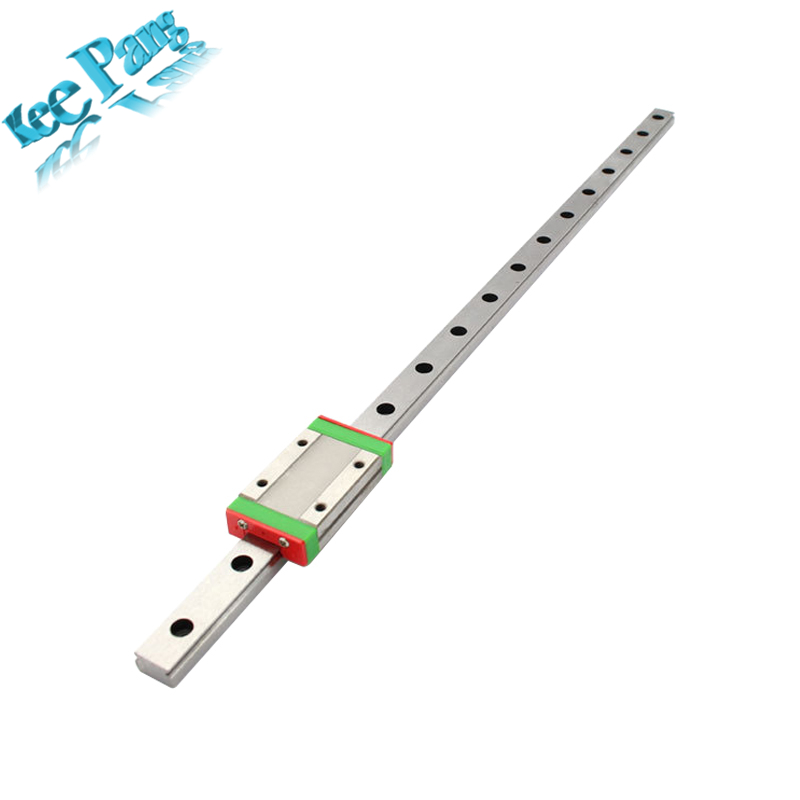 CNC Kossel Mini MGN12 Miniature Linear Rail Slide 3D Printers Parts 400mm 12mm MGN12H Carriage For