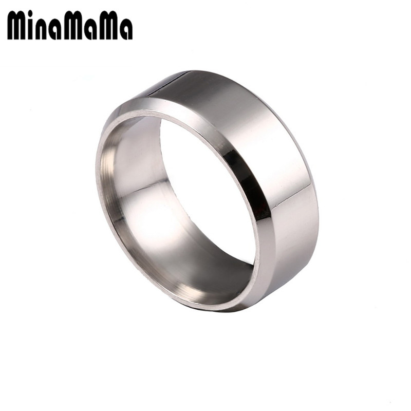 Men Ring Stainless Steel Gold Color Pinky Ring For Women Simple Jewelry Valentines Day Gift ...