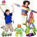 58 pcs big size designer criador tijolos educacionais brinquedos magnéticos magnético 3d diy blocos de construção juguetes crianças brinquedos de presente