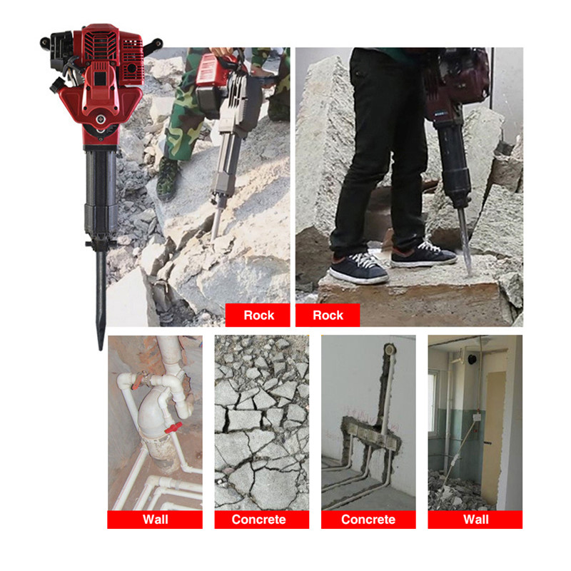 Two-stroke Pile Driver Pickaxe Tree Digging Machine Gasoline Planting Tree Excavation Trencher 2 Cycle Engine Garden Tool 52 CC (7)