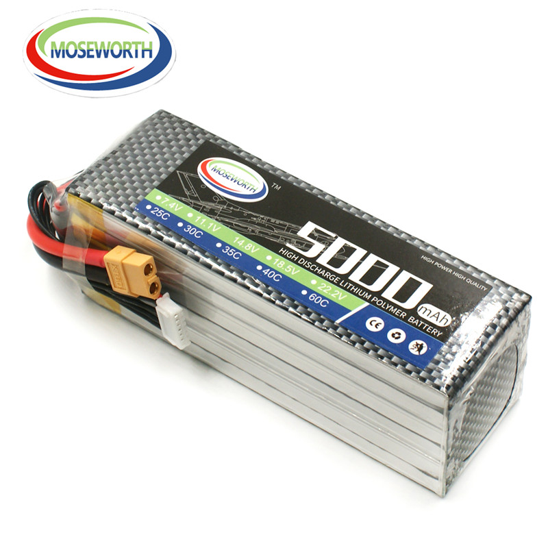 MOSEWORTH 5S RC Lipo Battery 18.5v 5000mAh 60C For RC Aircraft Boat Quadcopter Helicopter Car Drones Airplane AKKU 5S Li-polymer 1s 2s 3s 4s 5s 6s 7s 8s lipo battery balance connector for rc model battery esc