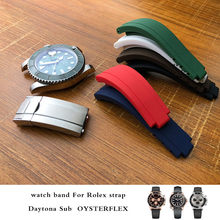 20mm 21mm Nature Silicone Rubber Watchband High Quality Watch Strap Special for Role Submariner Daytona GMT OYSTERFLEX Watch все цены