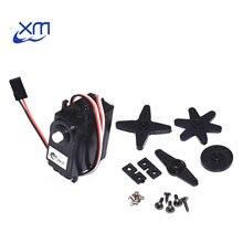 10 unids/lote DS04 NFC servo 360 grado continua Servos de rotación DC Gear Motor Robot de coche inteligente de torsión 5,5 kg/cm DC 4,8 V 6V H44