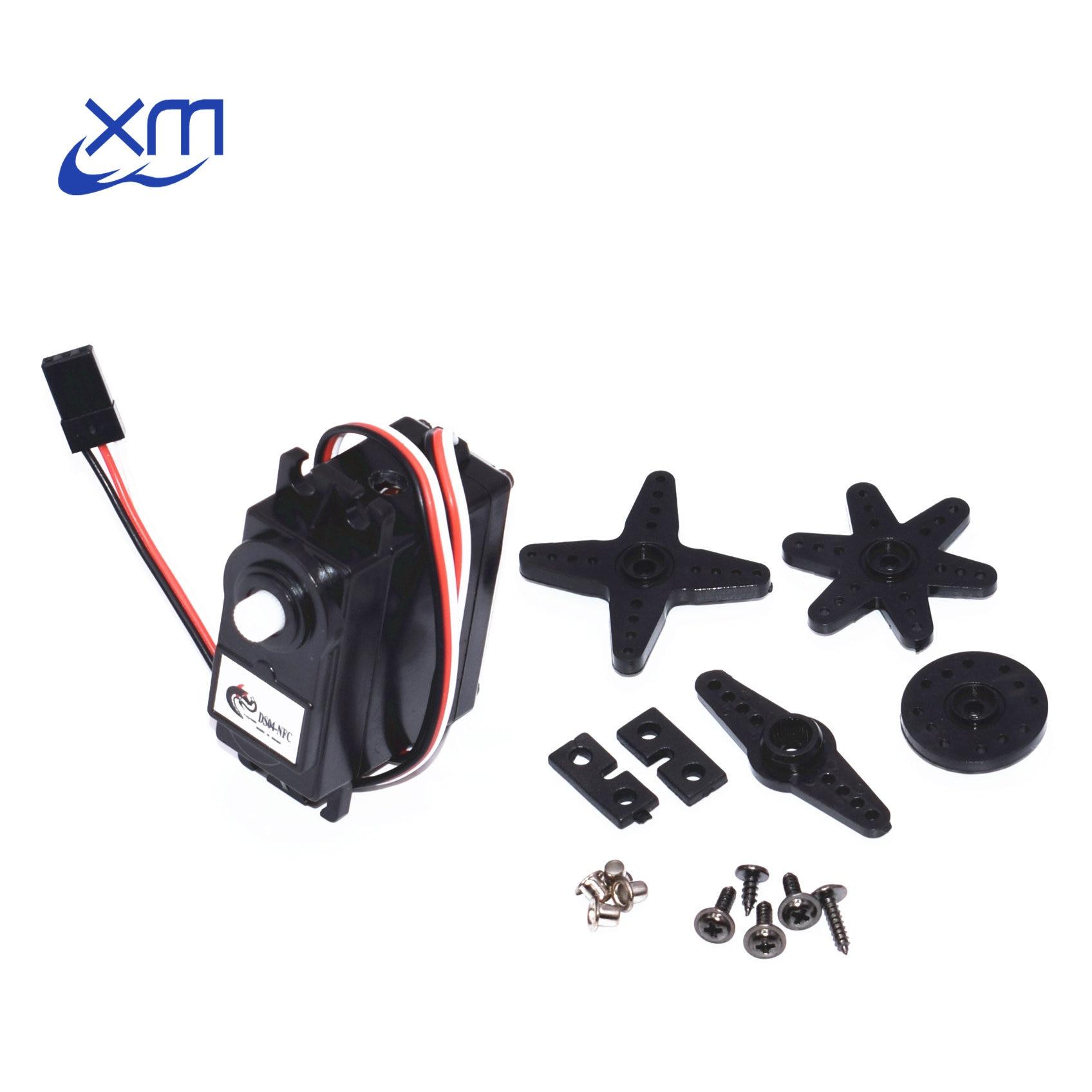 10pcs/lot DS04-NFC servo 360-degree Continuous Rotation Servos DC Gear Motor Smart Car Robot Torsion 5.5kg/cm DC 4.8V-6V H44