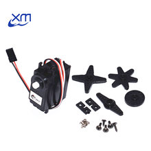 10pcs/lot DS04 NFC servo 360 degree Continuous Rotation Servos DC Gear Motor Smart Car Robot Torsion 5.5kg/cm DC 4.8V 6V H44