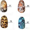 5 Tipos/set Salvaje Estilo de Uñas de transferencia de Agua Etiqueta Completa Nail Art Decoración Pegatina Consejos 1NHU 7GQR