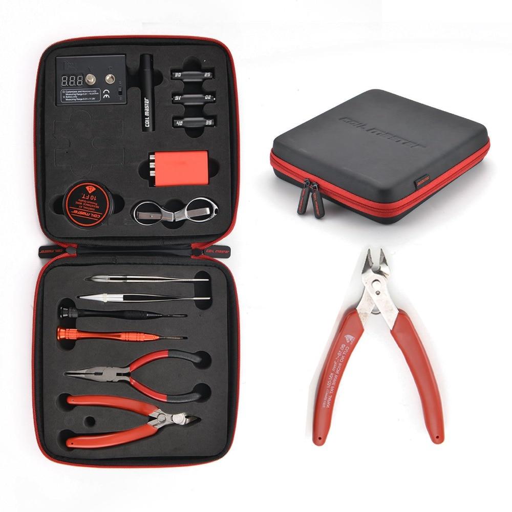Portable E-Cigarette DIY Tool Kit E-Cig Accessories Tool Bag All-in-one Vape DIY Device Rebuild RDA RDTA RTA Tank Atomizer