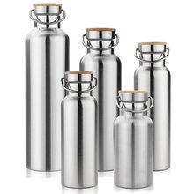 Bpa frei edelstahl doppelwandige tasse isoliert wasserflaschen für reise outdoor yoga camping wandern radfahren