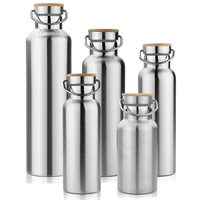 BPA Free Stainless Steel Double Wall Vacuum Cup Insulated Water Bottles For Travel Outdoor Yoga Camping