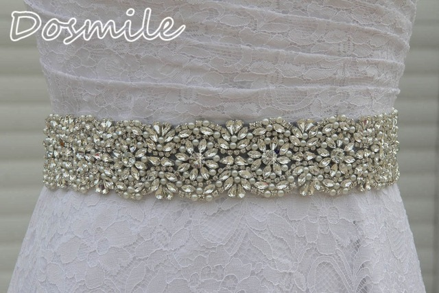 Beaded Pearls Women wide waistband Luxury bridal sash AAA crytals rhinestone belts for dresses