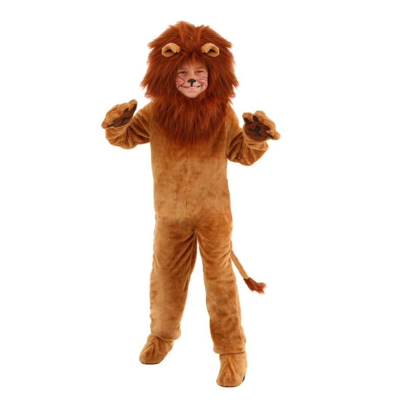 Costume enfant de luxe Lion enfants animaux Halloween Cosplay Costumes fantaisie assistant d'oz film rôle combinaisons