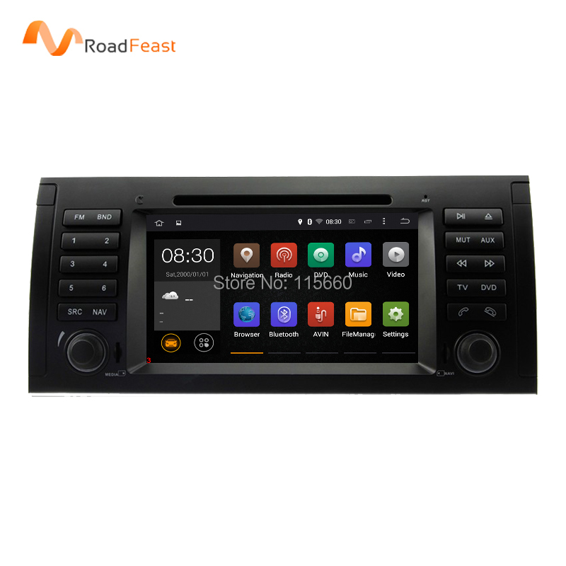 7Inch Android 5.1.1 In Dash Car DVD Player Multimedia For BMW E39/X5/M5/E38/E53 With Canbus Wifi GPS Navigation Radio FM
